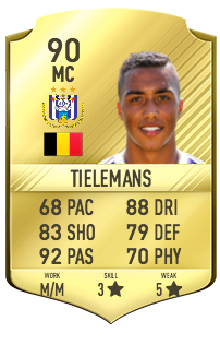 Youri Tielemans Potentiel